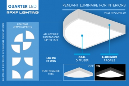 QUARTER LED - suspended interior luminaire